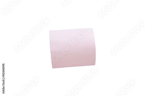Rouleau De Papier Toilette Roseisolé Sur Fond Blanc Kaufen Sie