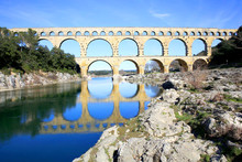 The Roman Aqueduct Pont Du Gard In South France