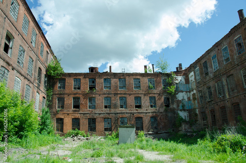 Abandoned textile factory. It was built in the middle of the 19th century. The European part of Russia, the city of Ivanovo.