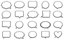 Stickers Of Speech Bubbles Vec...