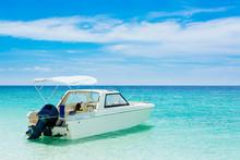 Motor Boat On The Beach