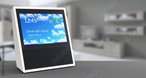 Valokuva  Smart speaker with voice control and display