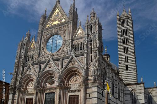 Plakat Catedral de Siena, Toskania. Siena, pole