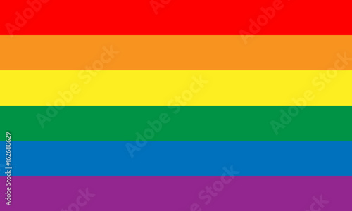 Lesbian, gay, bisexual, and transgender flag Wallpaper Mural