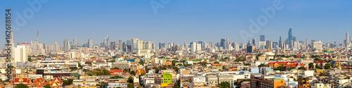 Photo  panorama cityscape of Bangkok city skyline , panoramic landscape  Thailand