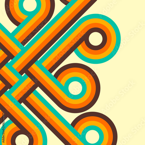 Abstract retro background, digital lines and circles