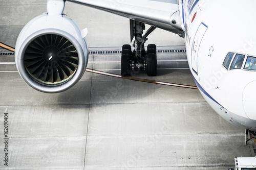 Engine of passenger aircraft Wallpaper Mural