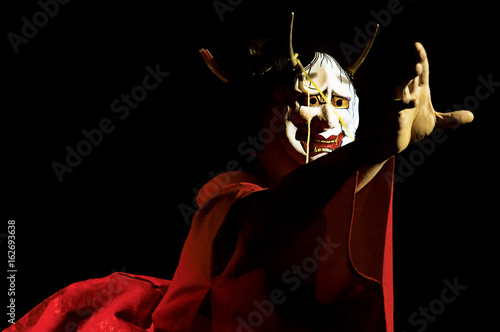 japanese kabuki mask Canvas Print