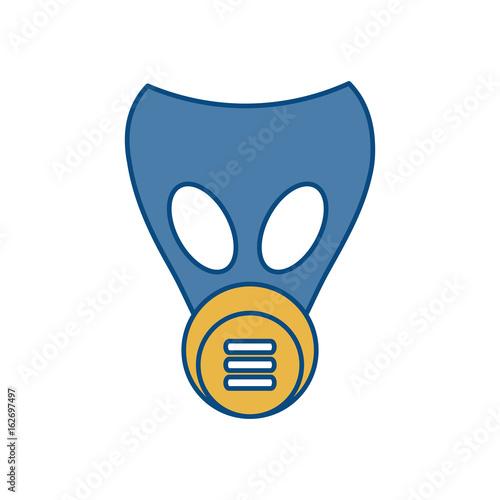 Fotografiet  gas mask icon