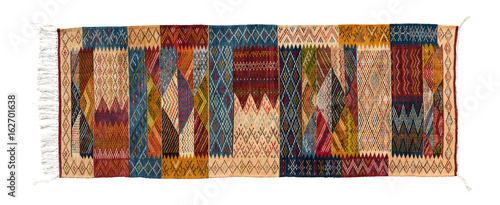 Typical berber carpet isolated on white, Morocco Wallpaper Mural
