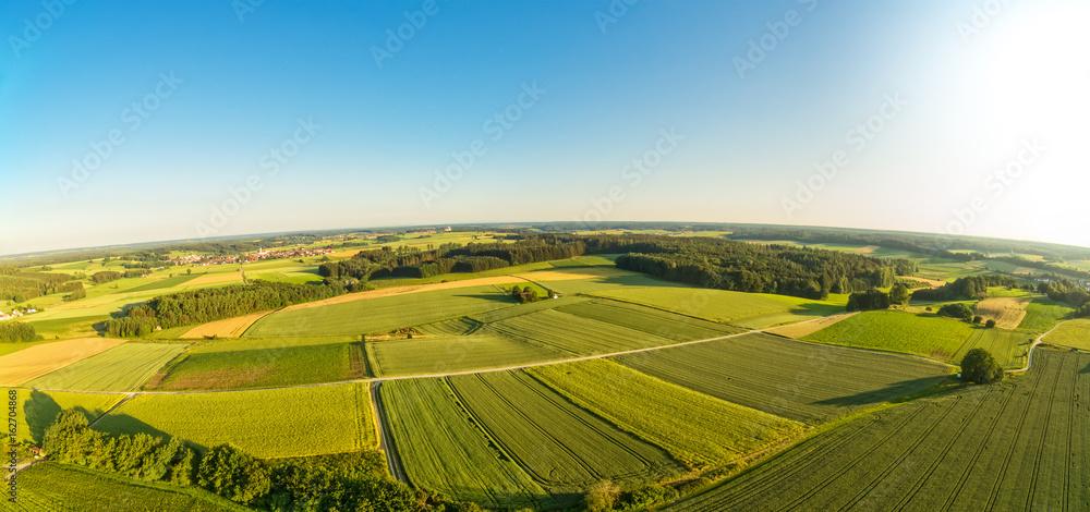 Fototapety, obrazy: Luftaufnahme von ländlicher Region