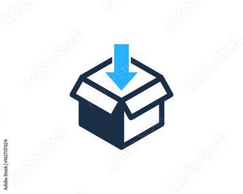 Fotografie, Tablou  Inside Box Icon Logo Design Element