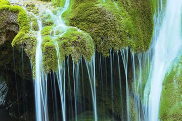detail of beautiful waterfall