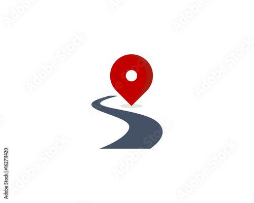 Photo Route Road Icon Logo Design Element