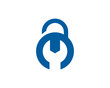Lock Repair Icon Logo Design Element