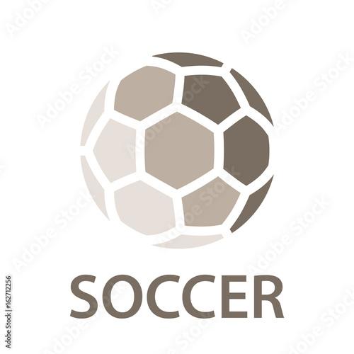 Vászonkép soccer ball brown icon symbol vector