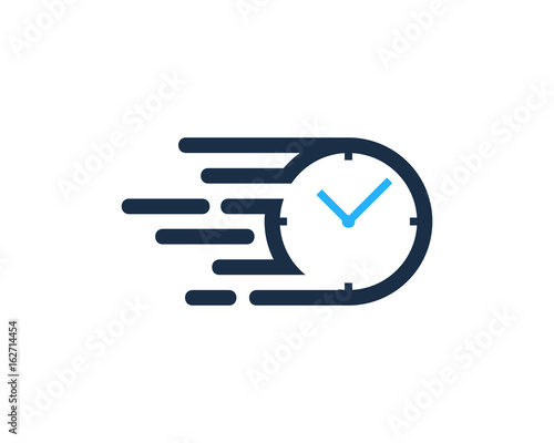 Fotografiet Speed Time Icon Logo Design Element