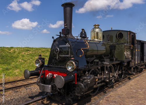 Obrazy na płótnie Canvas Steam Train at Station Enkhuizen