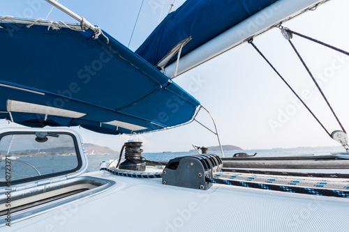 Fototapety, obrazy: Deck of the saling vessel