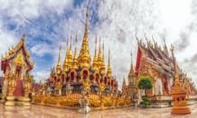 Phra Borommathat 30 Pagoda In Wat Prathatsuthone Province Phrae,Thailand