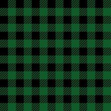 Green Lumberjack Seamless Patt...