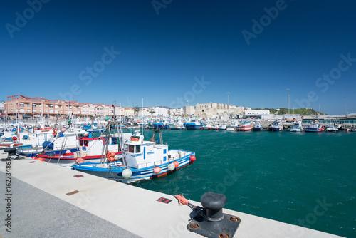 Plakat Port łodzi w Tarifie, Hiszpania