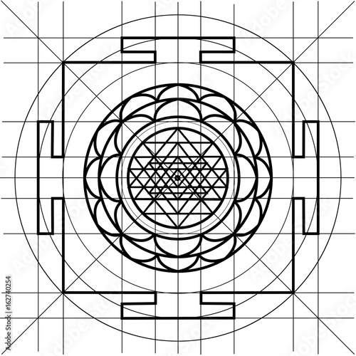 Sree Yantra. Sacred Geometry coloring book - Buy this stock vector ...