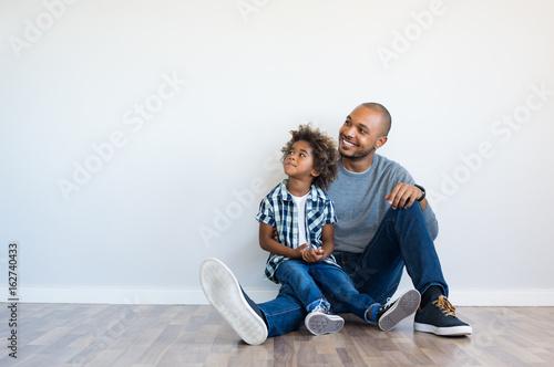 Father and son thinking Slika na platnu