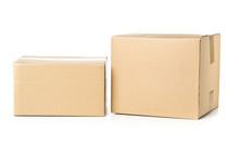 Two Corrugated Cardboard Carto...