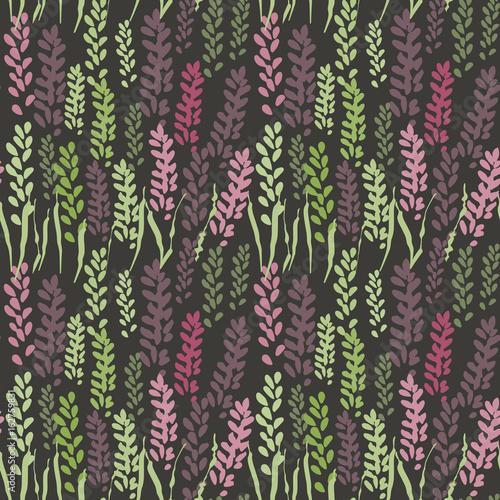 wektorowy-kwiecisty-bezszwowy-wzor-z-stylizowanymi-lawendowymi-kwiatami-i-trawa
