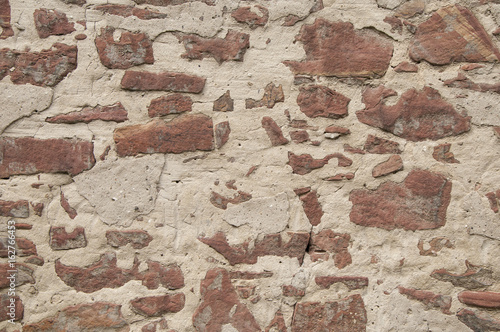 Wall Murals Old dirty textured wall Wall masoned out of red sandstone