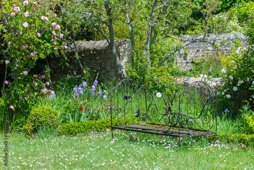 Tremendous Old Bench In A French Garden Vintage Decoration Buy This Cjindustries Chair Design For Home Cjindustriesco