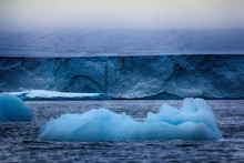 Wall Of Ice Sheet Glacier