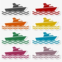 Ship Icon Flat Graphic Design - Illustration