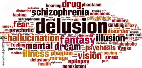 Valokuva Delusion word cloud