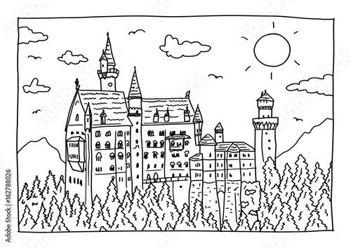 malvorlage schloss neuschwanstein  coloring and malvorlagan