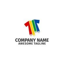 Colorful Shirt Logo Vector Ico...