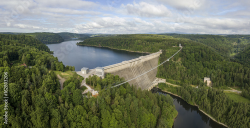 Printed kitchen splashbacks Dam Rappbode Dam in Harz mountains. Germany