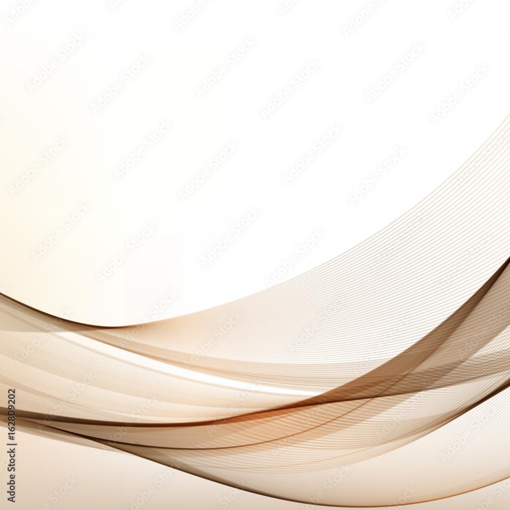 Brown Vector Modern Wavy Background.