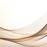 Brown Vector Modern Wavy Background.