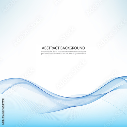 Photo Stands Abstract wave Abstract vector background, blue waved lines .Transparent wave.