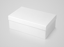 Closed Shoe White Paper Box On...