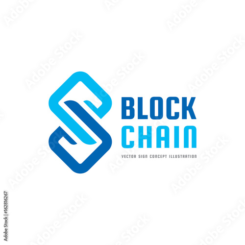 Blockchain technology vector logo template concept illustration blockchain technology vector logo template concept illustration abstract geometric business sign digital crypto friedricerecipe Choice Image