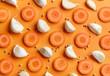 Leinwanddruck Bild - pattern of carrot and garlic