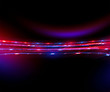 Beautiful light flares. Glowing streaks on dark background. Luminous abstract sparkling lined background. .light effect wallpaper. Sci fi technology. Sequins backdrop. New gala. .