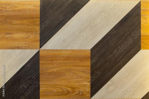 Spoed Fotobehang Geometrisch Cubic shape wooden background