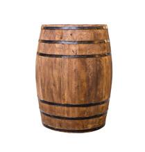 Oak Barrel Brown With Metal Ho...