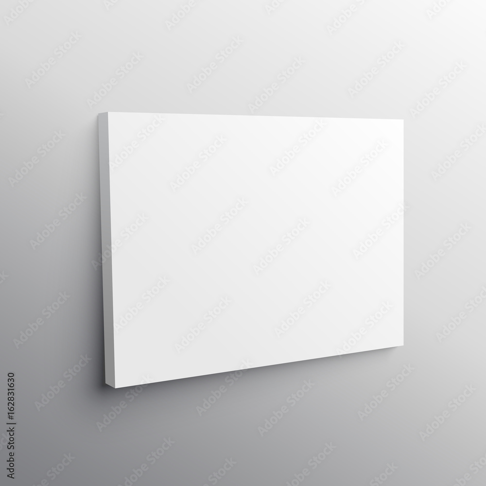 Fototapety, obrazy: empty wall canvas display mockup vector