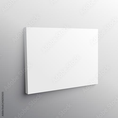 Fotografie, Obraz empty wall canvas display mockup vector