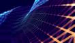 canvas print picture - Fondo abstracto de tecnologia y ciencia.Malla o red con lineas y formas geometricas.